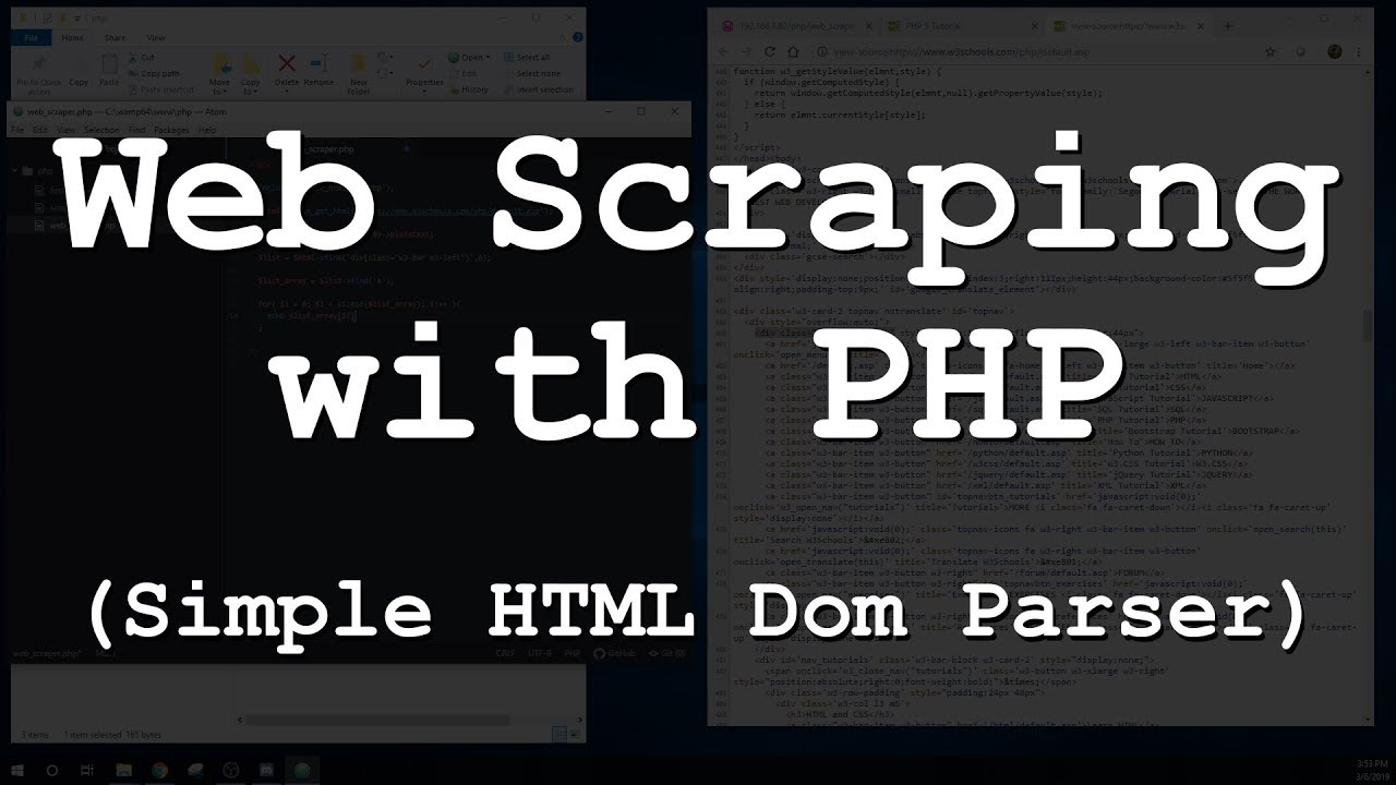 Web Scraping in PHP Using HTML DOM Parser