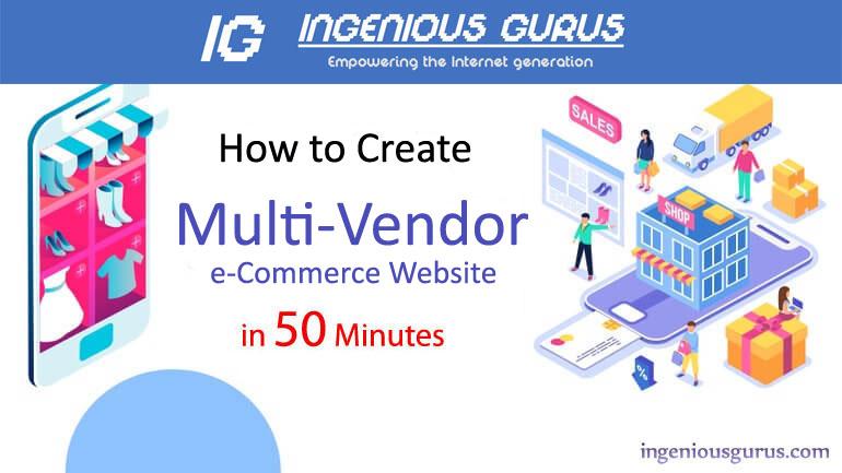 Multi Vendor e-Commerce Store in 50 Minutes