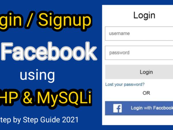 Facebook Login Signup with PHP SDK API